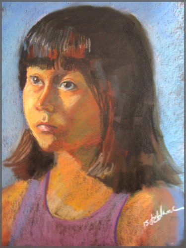 Artist Isabel Goode-DeBlanc creates a realistic Pastel drawing of young girl named Allie.