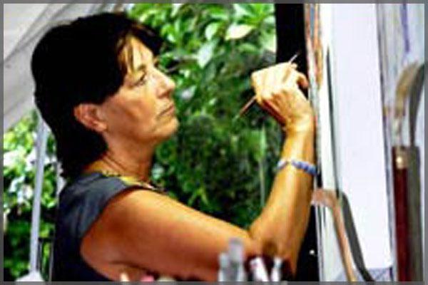 Ajijic artist Cathy Chalvignac portrait.