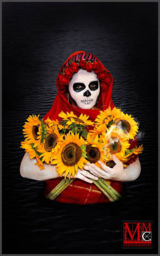 La Catrina del Lago digital photo on metal paper by artist Luis McCormick of Ajijic, Mexico.